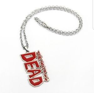 Other - NWT Men The Walking Dead Letter Necklace